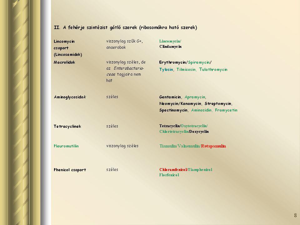 Szalmonella izolálás -Módszer: ISO 6579 Annex D -Minták: az állatok hasznosításától és korától függően: 2-5 pár taposóminta, bélsár, szervek (máj, vakbél, vékonybél), meconium, tojás, környezeti minták, takarmány, víz - Hatékonyság: 1%-os előfordulás (prevalencia) mellett, 95%-os megbízhatóság (confidencia) Az ellenőrzések sűrítésével az 1% alatti fertőzöttség is felderíthető