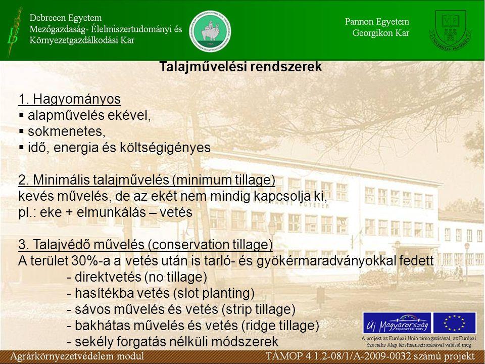 Talajművelési rendszerek 1.