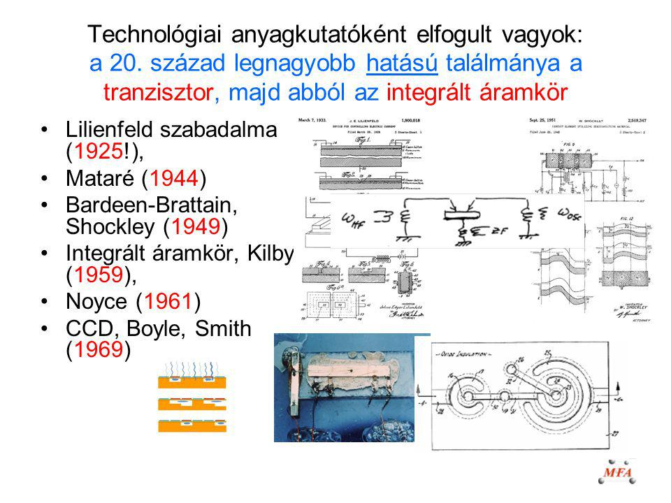 Technológiai anyagkutatóként elfogult vagyok: a 20. század legnagyobb hatású találmánya a tranzisztor, majd abból az integrált áramkör Lilienfeld szab