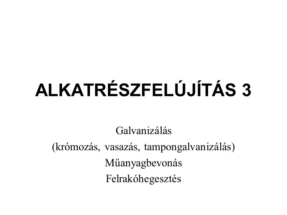 GALVANIZÁLÁS