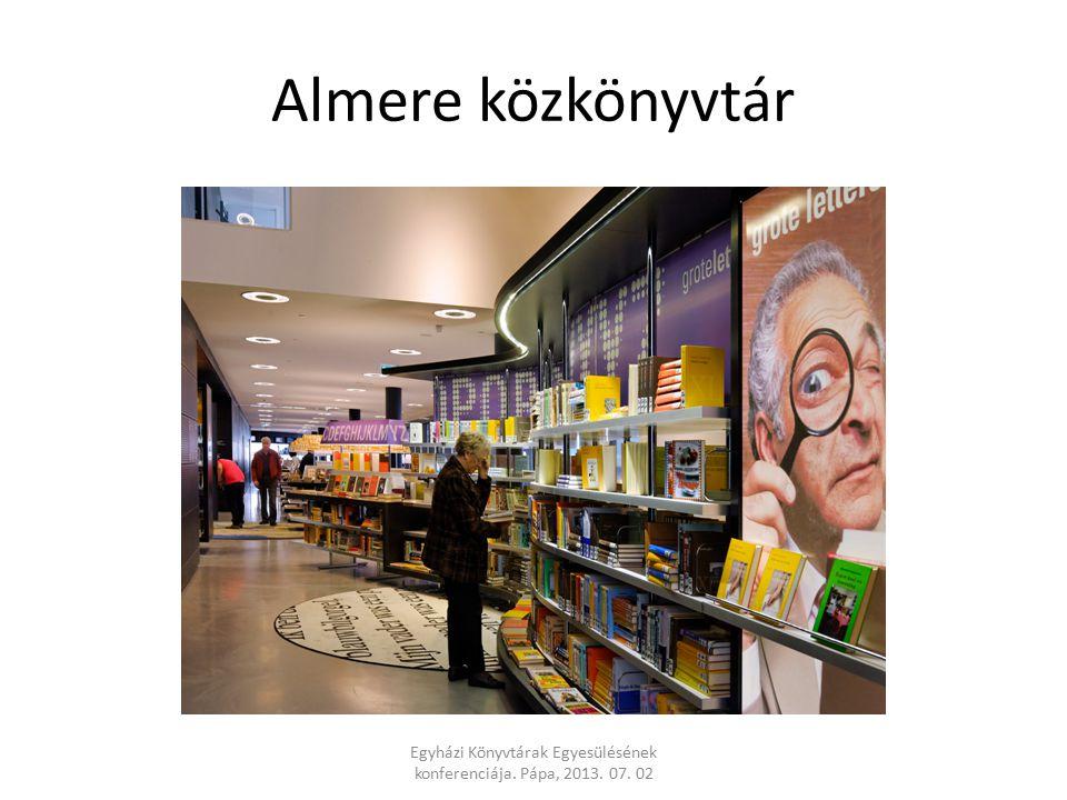 Almere közkönyvtár Egyházi Könyvtárak Egyesülésének konferenciája. Pápa, 2013. 07. 02