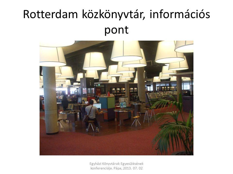 Rotterdam közkönyvtár, információs pont Egyházi Könyvtárak Egyesülésének konferenciája.