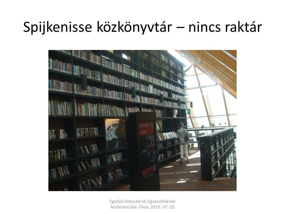 Spijkenisse közkönyvtár – nincs raktár Egyházi Könyvtárak Egyesülésének konferenciája.