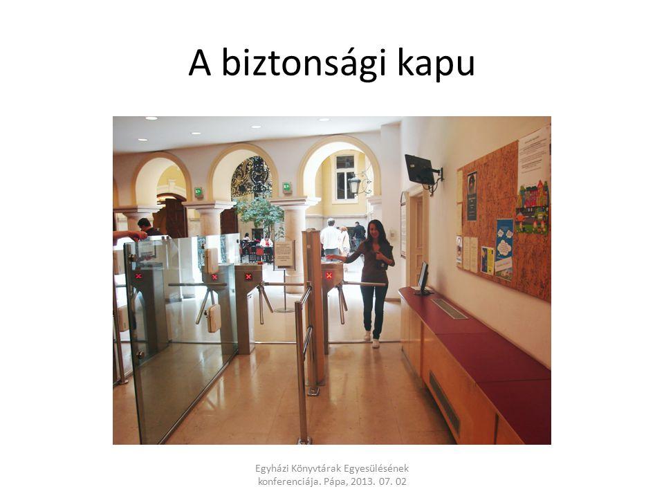 A biztonsági kapu Egyházi Könyvtárak Egyesülésének konferenciája. Pápa, 2013. 07. 02