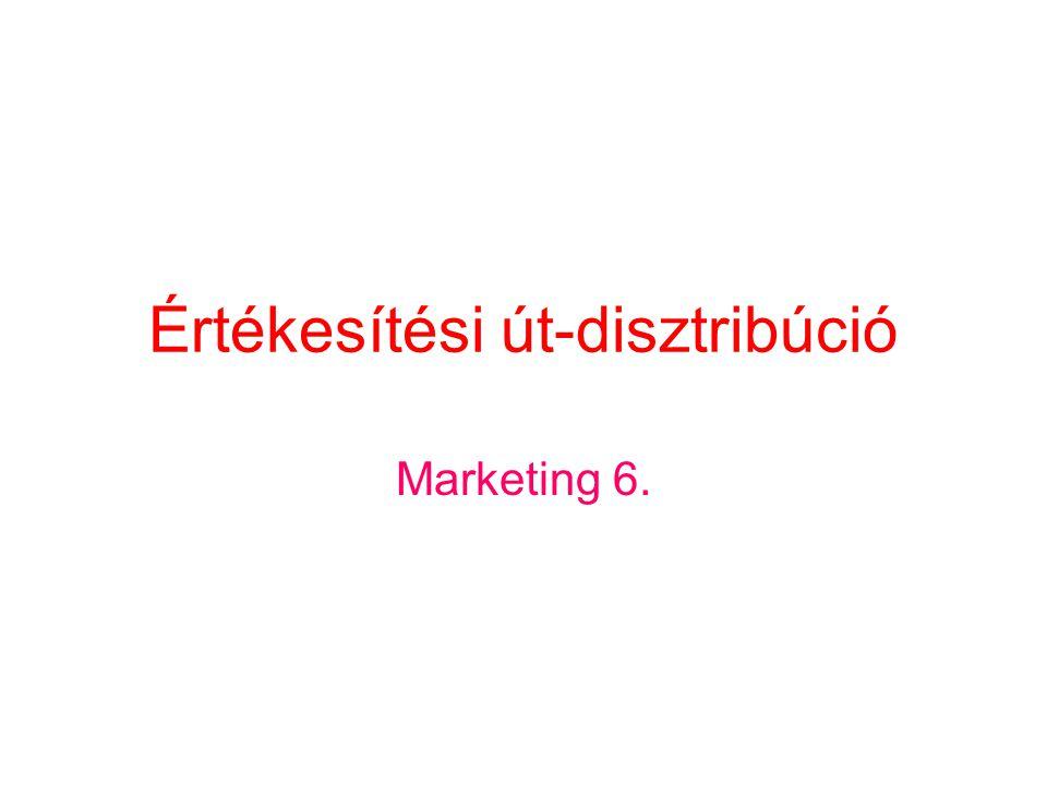 Értékesítési út-disztribúció Marketing 6.