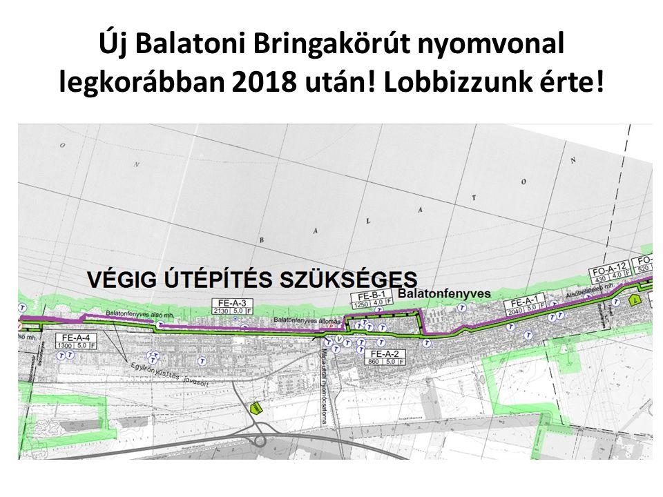 Új Balatoni Bringakörút nyomvonal legkorábban 2018 után! Lobbizzunk érte!