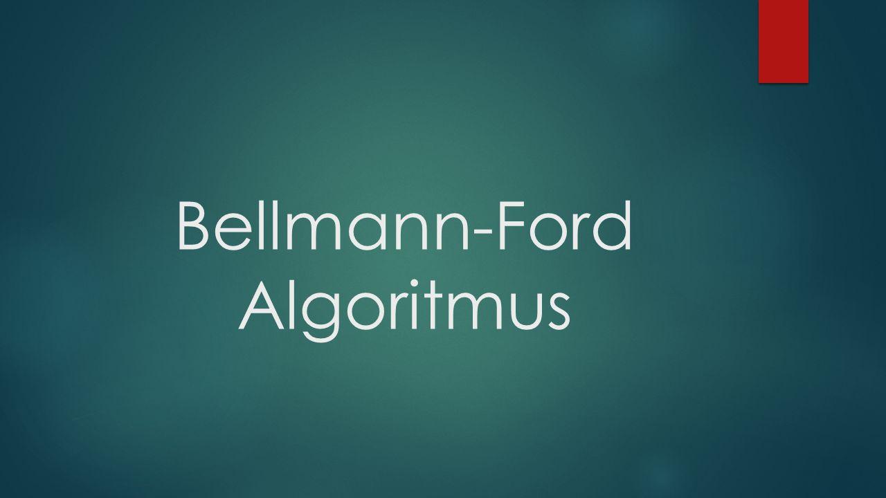 Az Algoritmus elve  Ez az algoritmus egy rögzített csúcsból az összes többi- be meghatározza a legkisebb súlyú/legrövidebb utat  A legrövidebb út itt a legkisebb súlyú utat jelenti  Bármely két pont közötti legrövidebb út megkeresésekor a költség: t=n*O(n) 3 = O(n) 4  A Bellman-Ford algoritmus az adott kezdőcsúcsból induló legrövidebb utak problémáját abban az esetben oldja meg, amikor vannak az élek között negatív súlyúak, de nem találunk a gráfban negatív kört.