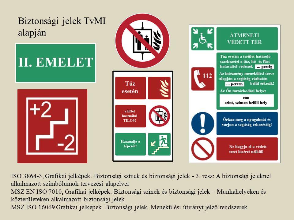Biztonsági jelek TvMI alapján ISO 3864-3, Grafikai jelképek. Biztonsági színek és biztonsági jelek - 3. rész: A biztonsági jeleknél alkalmazott szimbó