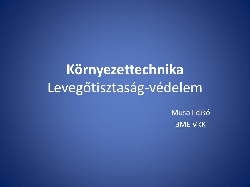 Környezettechnika Levegőtisztaság-védelem Musa Ildikó BME VKKT
