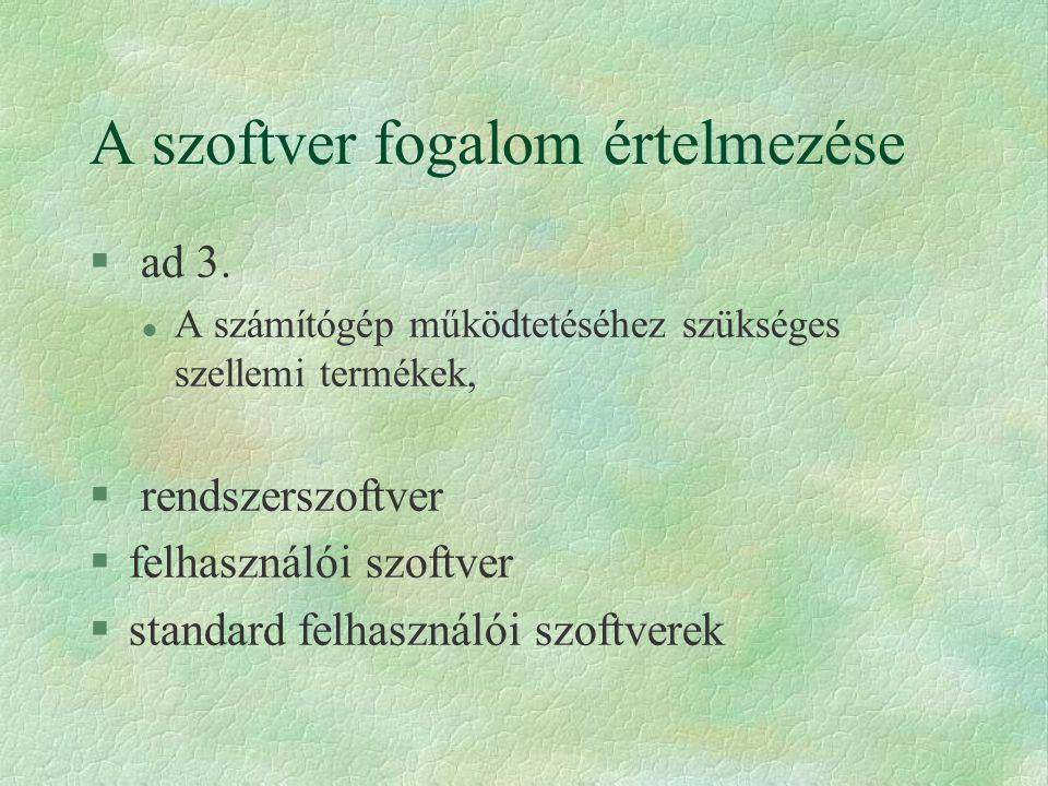 Multitasking rendszer § egyfelhasználós multiprogramozott működés (többfeladatos rendszer) § Windows, Novell DOS 7, Mac, OS/2 stb.