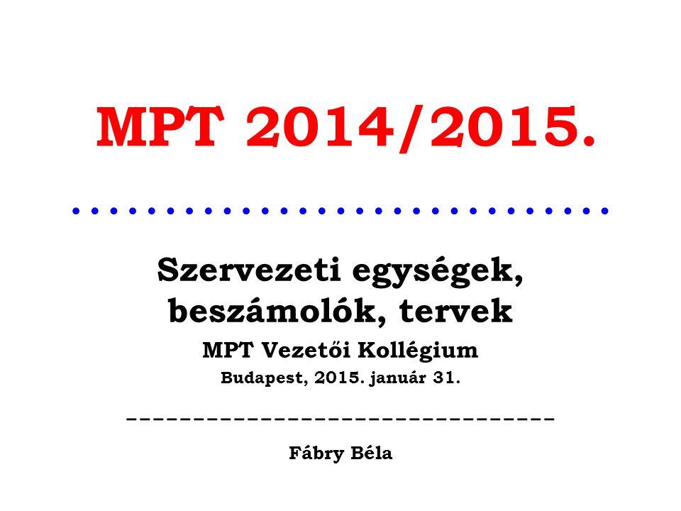 MPT 2014/2015. ………………………..