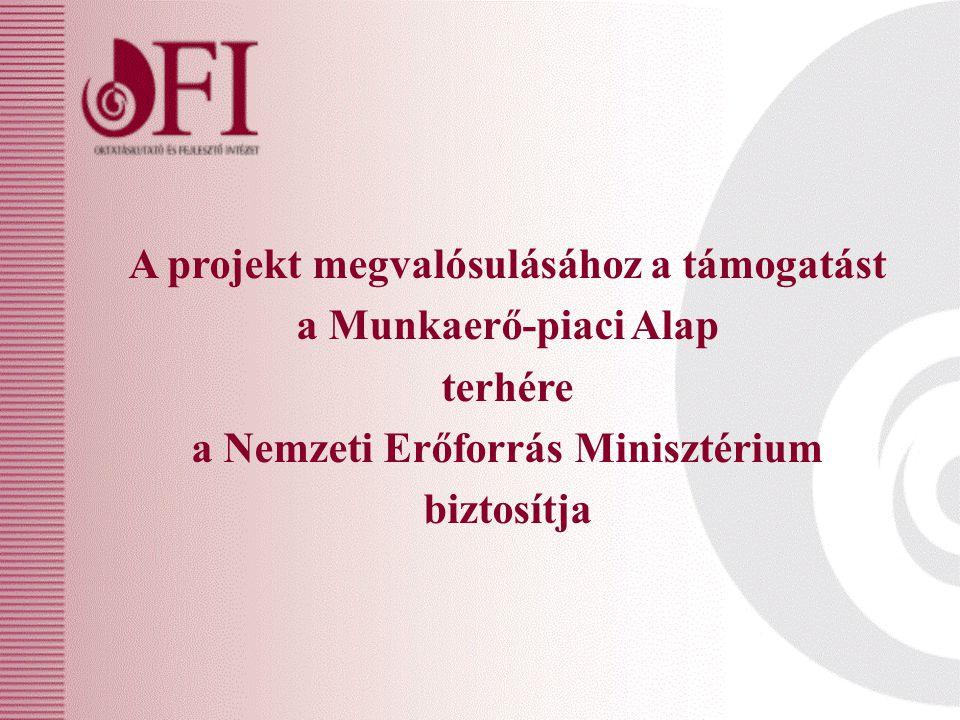 A projekt megvalósulásához a támogatást a Munkaerő-piaci Alap terhére a Nemzeti Erőforrás Minisztérium biztosítja