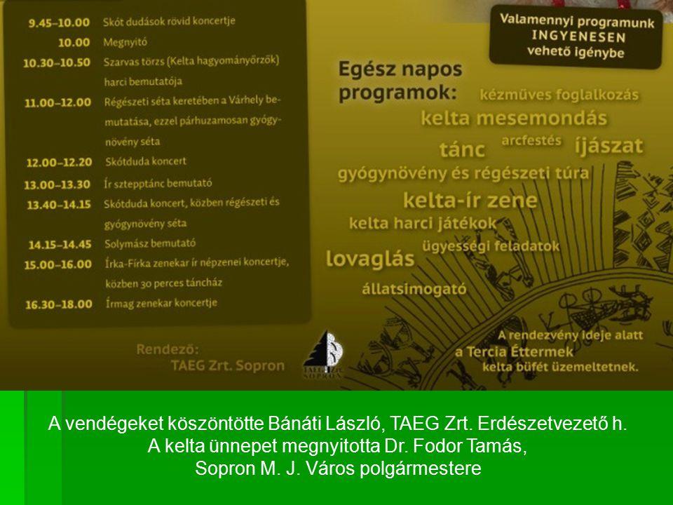 A vendégeket köszöntötte Bánáti László, TAEG Zrt.Erdészetvezető h.