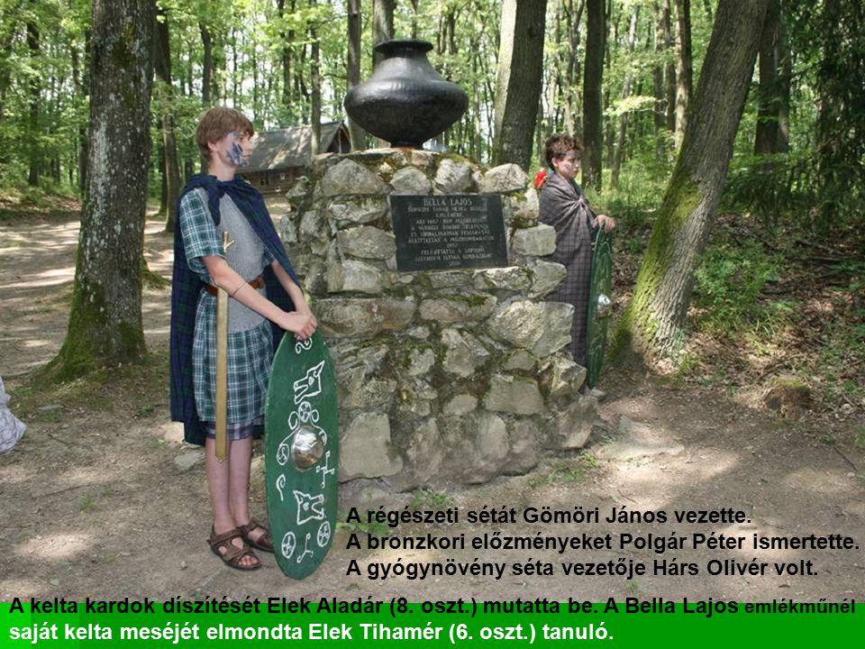 A régészeti sétát Gömöri János vezette.A bronzkori előzményeket Polgár Péter ismertette.