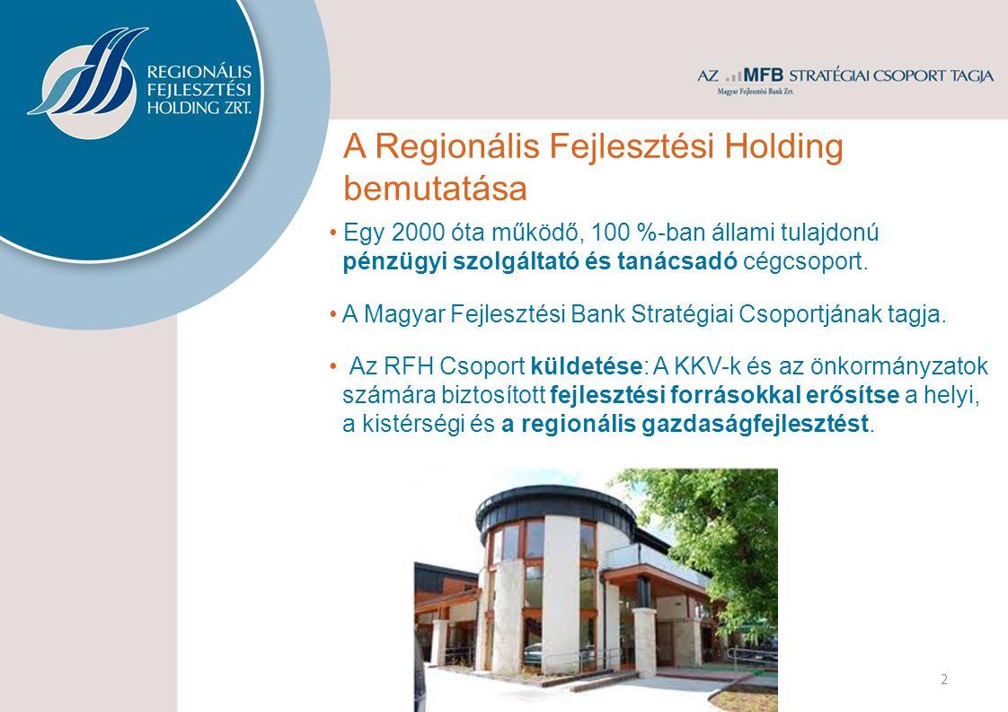 Egy 2000 óta működő, 100 %-ban állami tulajdonú pénzügyi szolgáltató és tanácsadó cégcsoport.