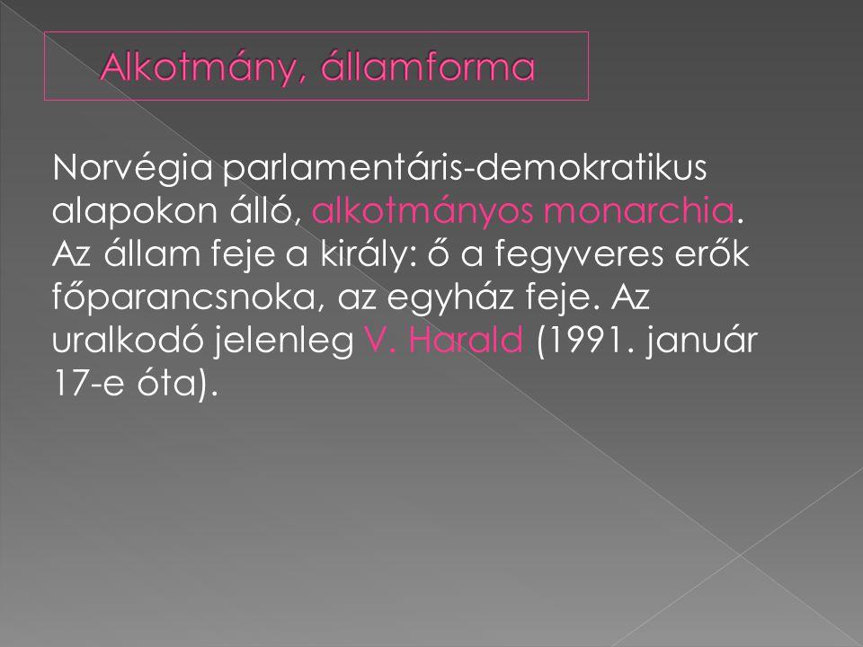 Norvégia parlamentáris-demokratikus alapokon álló, alkotmányos monarchia.