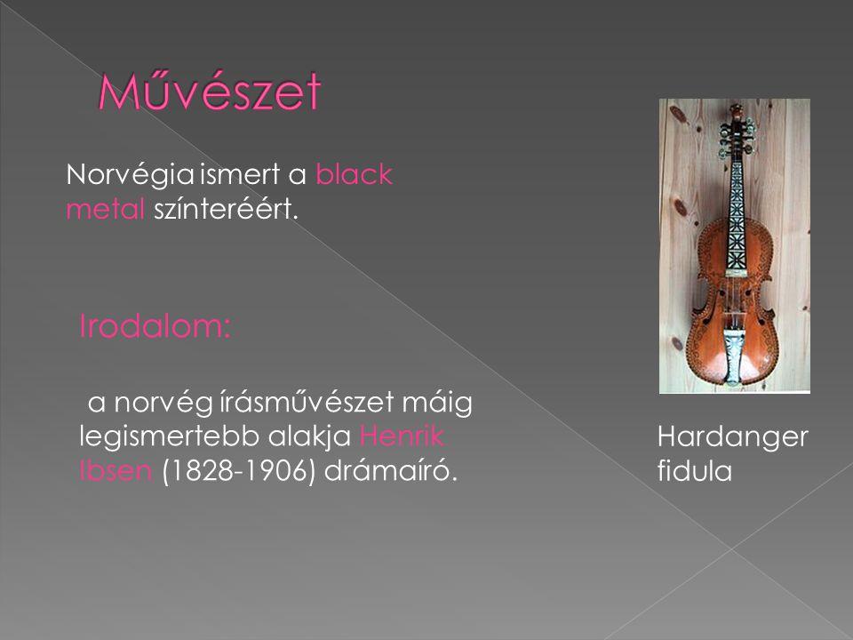 Hardanger fidula Norvégia ismert a black metal színteréért.