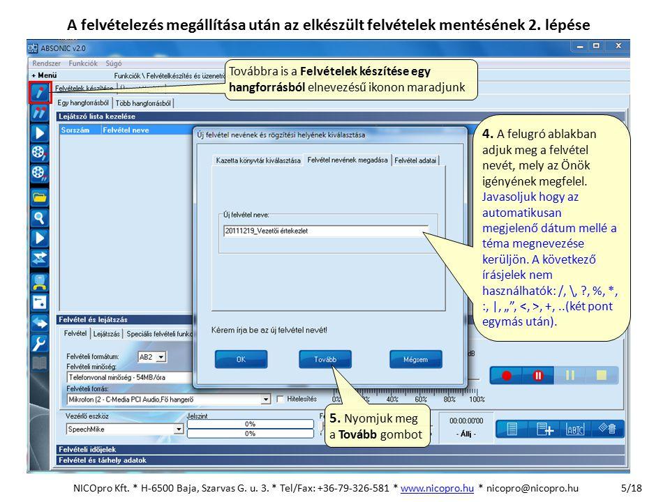 16/17 Mikrofon csatlakoztatása a számítógép hangkártyájához NICOpro Kft.