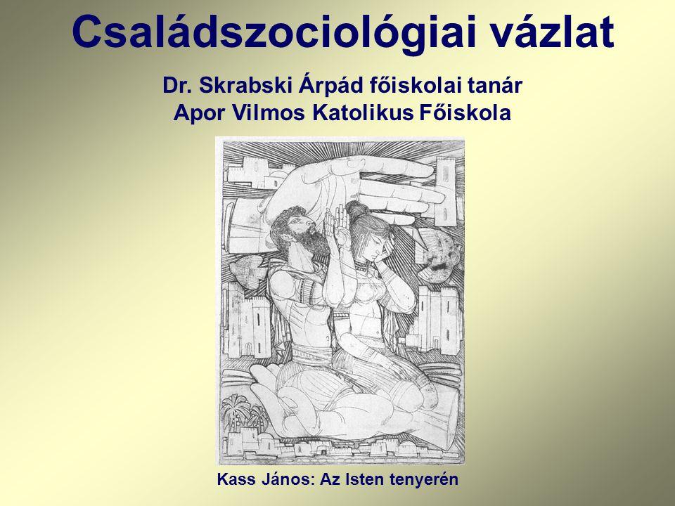 Családszociológiai vázlat Dr. Skrabski Árpád főiskolai tanár Apor Vilmos Katolikus Főiskola Kass János: Az Isten tenyerén