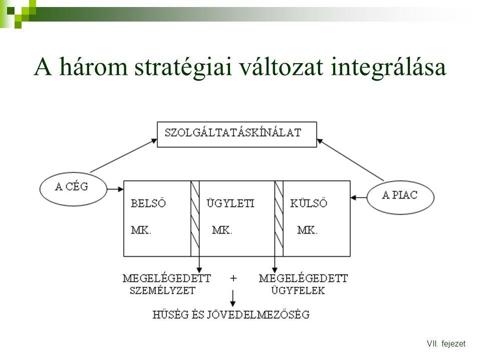 A három stratégiai változat integrálása VII. fejezet