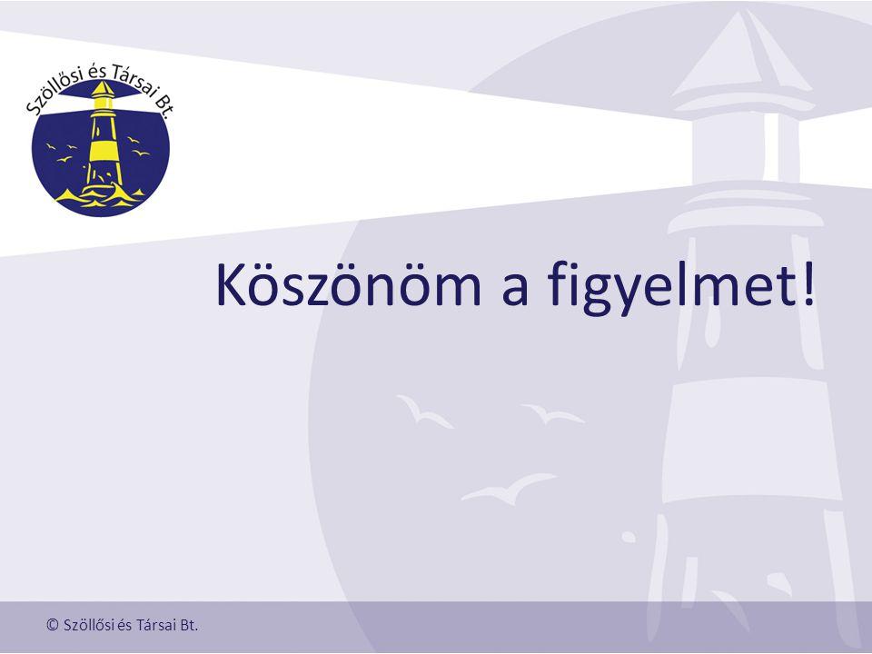 Köszönöm a figyelmet! © Szöllősi és Társai Bt.