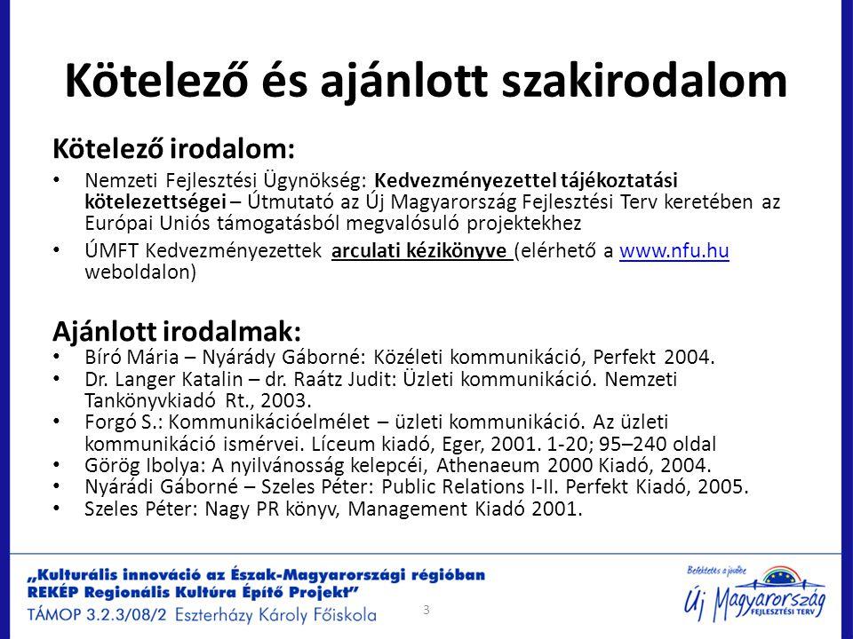 Arculati elemek és használatuk Kiegészítő elemek: szlogen, trikolor, oldalsáv, infoblokk Trikolor (a prezentáció címdiáján látható) Specifikációja: – színe: P485, fehér, P355 – méret: oldalsávtól oldalsávig, a felület teljes szélességében – verziók: az eltérő oldalirányú miatt 3 verzió áll rendelkezésre (1/3, 2/3 es 3/3) Infoblokk (a prezentáció címdiájának bal alsó sarkában) Elemei: EU és NFÜ logó, valamint infoblokk, opcionálisan a projektlogó is – színe: P ReflexBlue, vagy kék háttér esetén fehér – méret: az általános arányosítási rendszernek megfelelően – elhelyezés: hirdetési felületek esetében az általános arányosítási rendszernek megfelelően, kiadványok esetében a B4-en EU logó nélkül, opcionálisan kék háttéren.