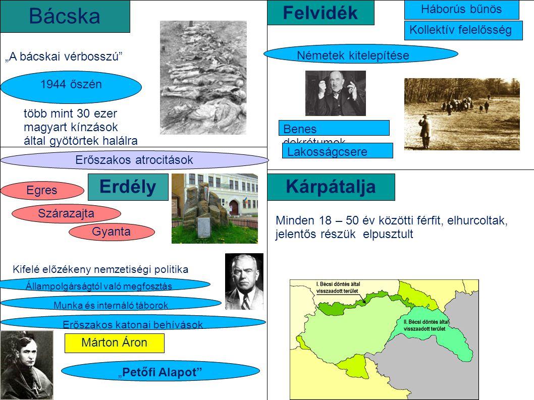 """""""A bácskai vérbosszú"""" 1944 őszén több mint 30 ezer magyart kínzások által gyötörtek halálra Bácska ErdélyKárpátalja Erőszakos atrocitások Szárazajta G"""