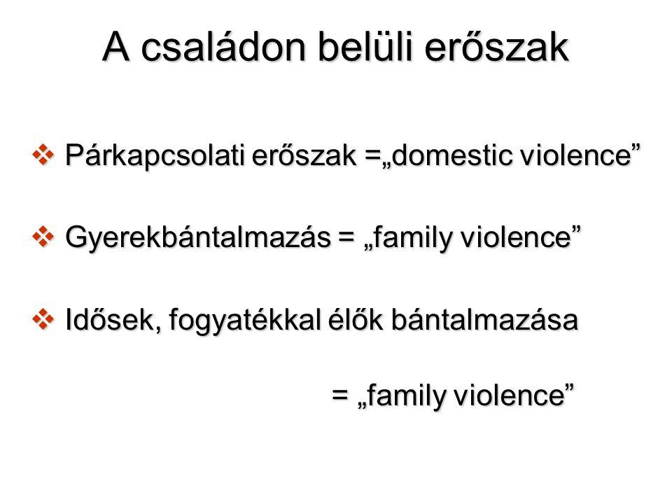 Elkövetők és sértettek Kik is ők.Házastársak, élettársak, szülők, nevelőszülők Honnan kerülnek ki.