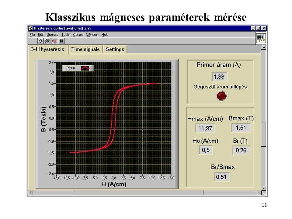 11 Klasszikus mágneses paraméterek mérése