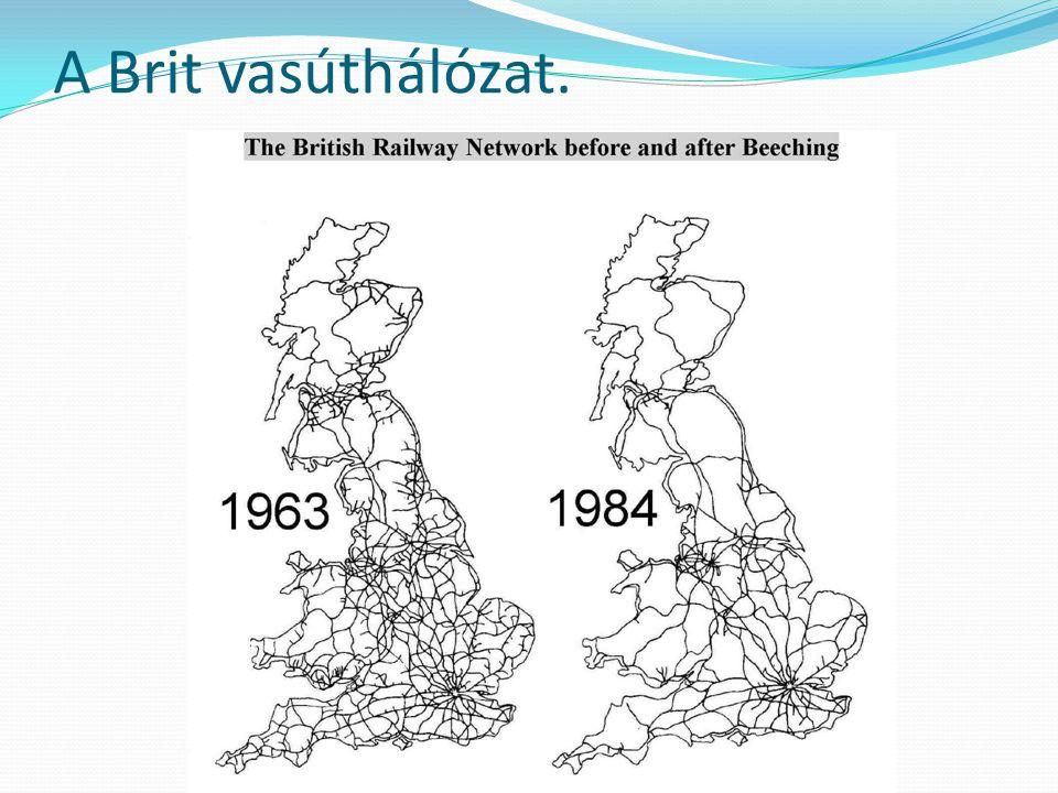 A Brit vasúthálózat.