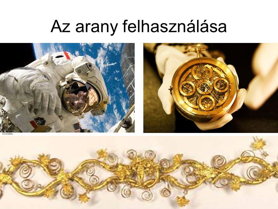 Az arany felhasználása