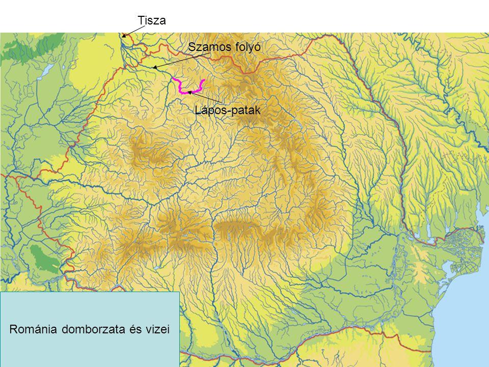 Lápos-patak Szamos folyó Tisza Románia domborzata és vizei