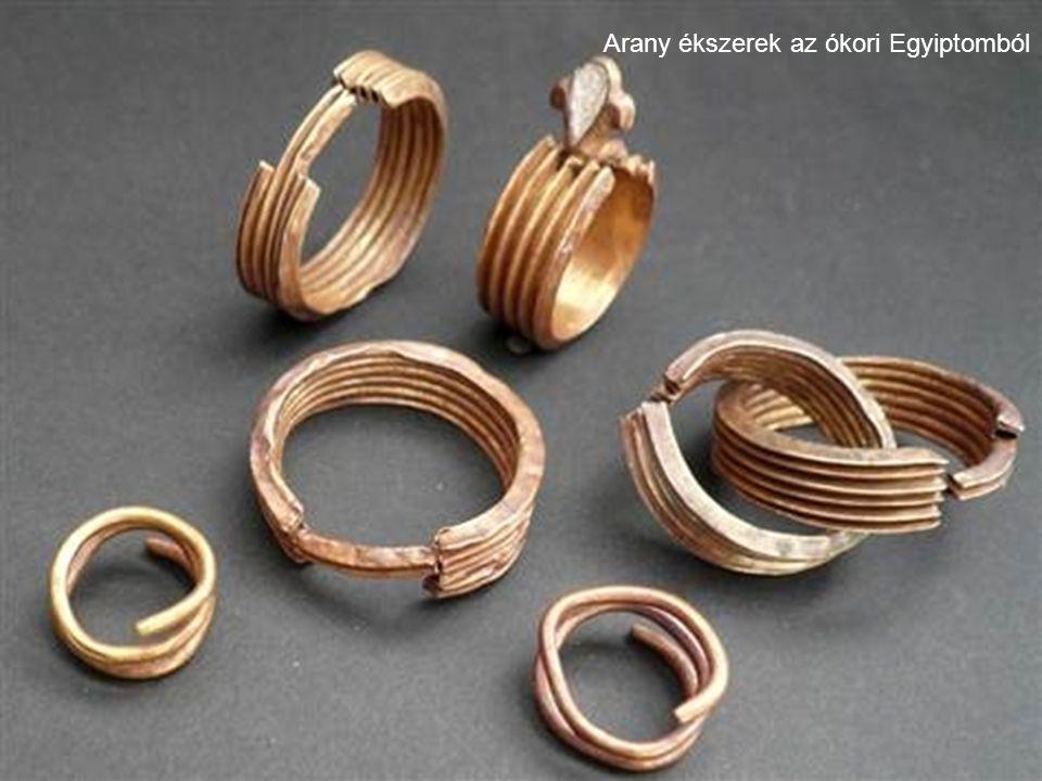 Arany ékszerek az ókori Egyiptomból