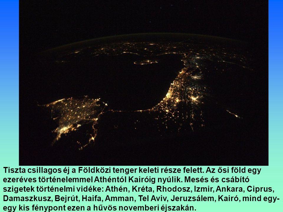 Florida és az Egyesült Államok délkeleti része késő este.