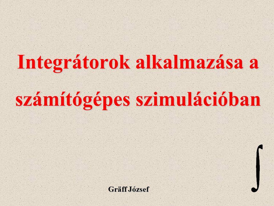 Integrátorok alkalmazása a számítógépes szimulációban Gräff József
