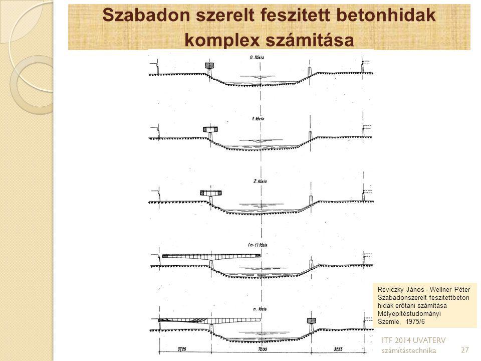 Szabadon szerelt feszitett betonhidak komplex számitása 27 Reviczky János - Wellner Péter Szabadonszerelt feszitettbeton hidak erőtani számítása Mélye