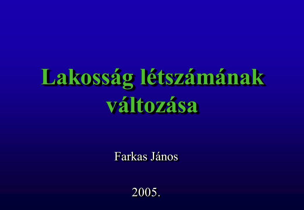 Lakosság létszámának változása Farkas János 2005. 2005.