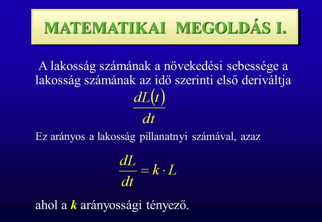 MATEMATIKAI MEGOLDÁS I.