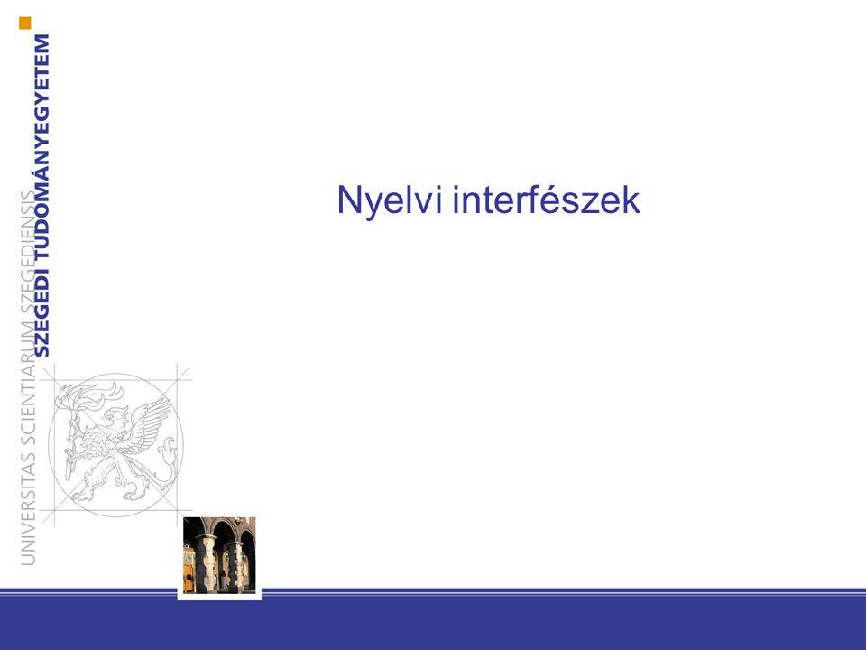 Nyelvi interfészek