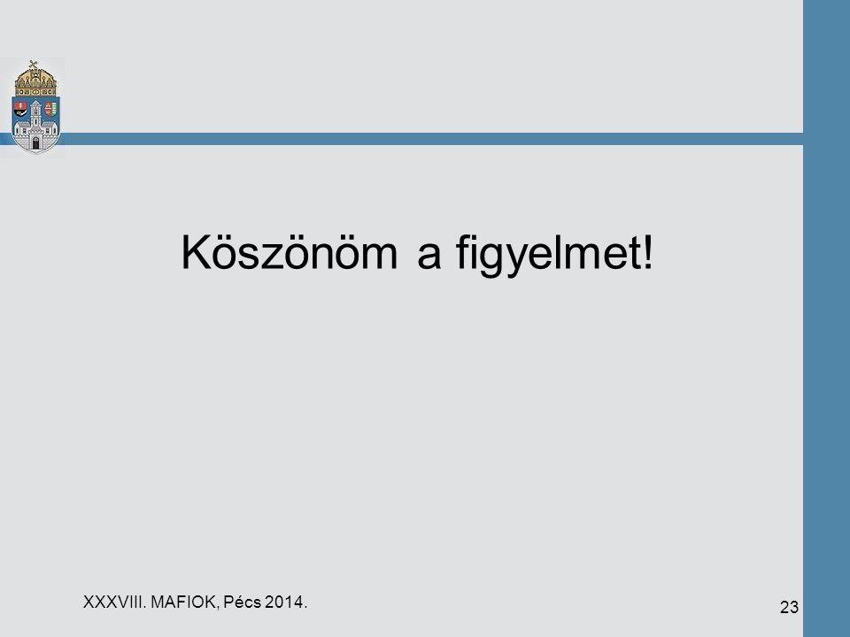 Köszönöm a figyelmet! 23 XXXVIII. MAFIOK, Pécs 2014.