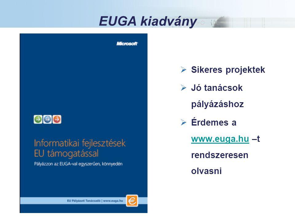 EUGA kiadvány Az Európai Beruházási Alap garanciáját Magyarországon a HVB Bank az EIF-fel kizárólagosan megkötött megállapodás alapján nyújtja.