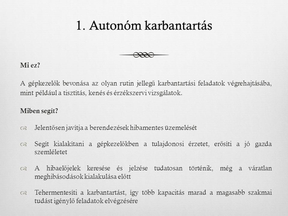 1.Autonóm karbantartás1. Autonóm karbantartás Mi ez.