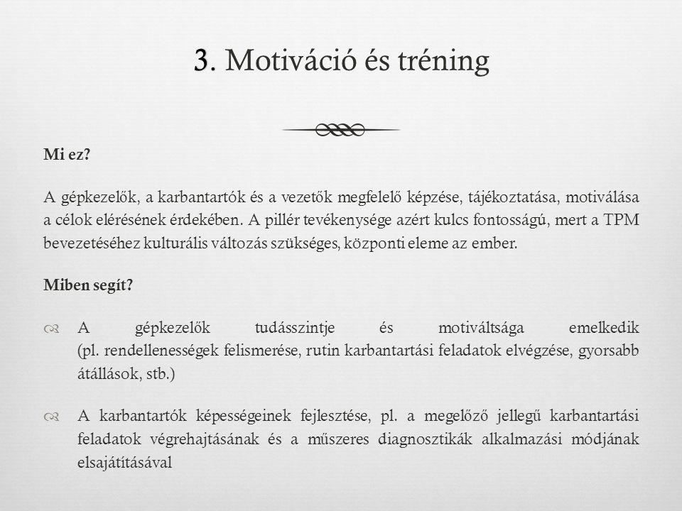 3.3. Motiváció és tréning Mi ez.