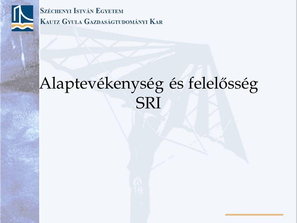 Alaptevékenység és felelősség SRI