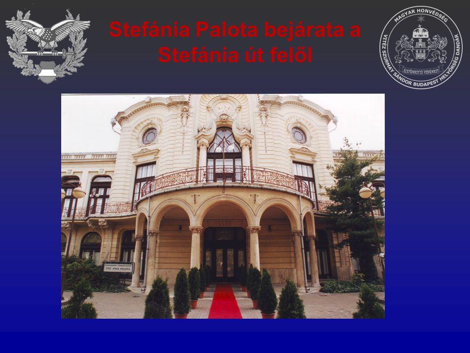 Stefánia Palota bejárata a Stefánia út felől