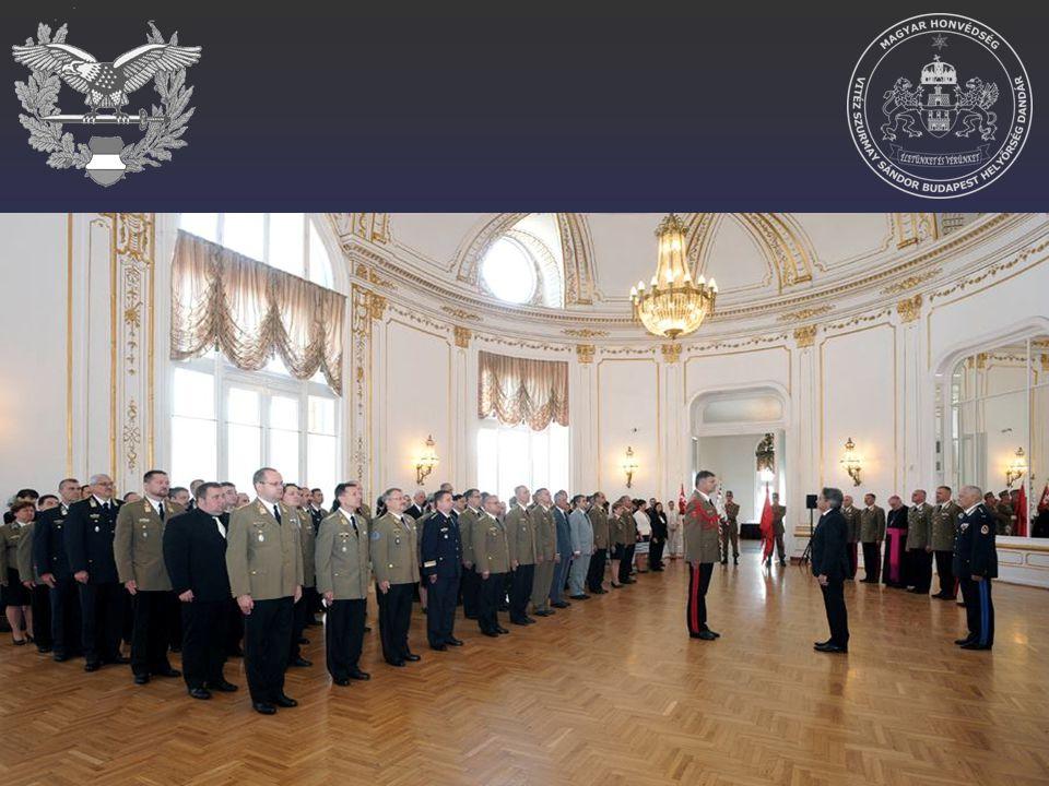 Az ünnepségre meghívott vendégek: Magyarország elnöke; Magyarország honvédelmi minisztere; a HM parlamenti államtitkára; a HM közigazgatási államtitkára; Honvéd Vezérkar főnök; a HM helyettes államtitkárok; HM kabinetfőnök; a Katonai Nemzetbiztonsági Szolgálat főigazgatója; az MH Összhaderőnemi Parancsnokság parancsnoka; a Tábori Lelkészi Szolgálat vezetői; MH vezénylő zászlós.