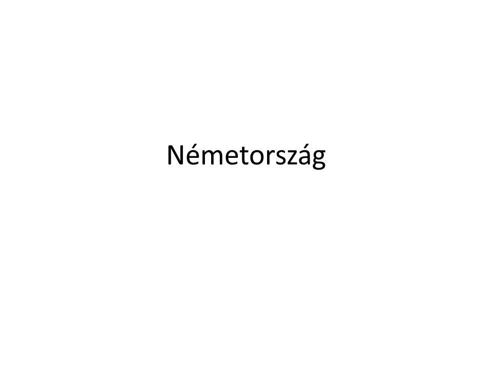 Német Szövetségi Köztársaság Terület: 357 ezer km2 Lakosság: 80 219 700 (2011) Népsűrűség: 225 fő/km² Összes GDP: 667 milliárd USD (4.) Egy főre jutó GDP: 44 660 USD Főváros: Berlin