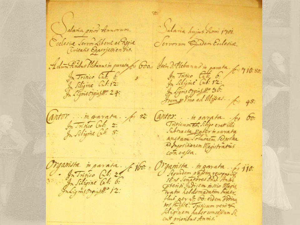 A konvenció Eleinte szokás alapján, később írásos szerződés a plébános és a közösség között, 1697.