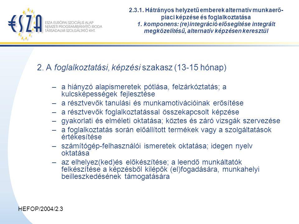 HEFOP/2004/2.3 2.