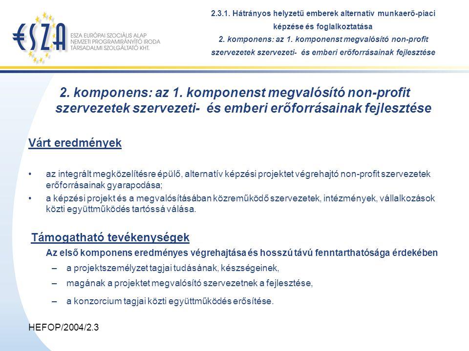 HEFOP/2004/2.3 2.3.1.